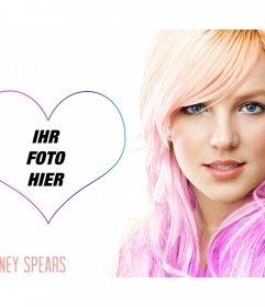 Setzen Sie Ihr Bild neben dem berühmten Sängerin Britney Spears
