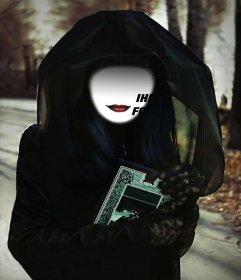 Virtuelle Kostüm eines geheimnisvollen Hexe mit Ihrem Foto