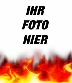 Brennendes Foto Foto-Effekt. Ideal für Ihr Profilbild