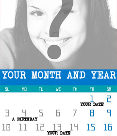 Schöpfer der Kalender eines jeden Monats und Jahres mit dem Foto zu gestalten Sie sich entscheiden, online und kostenlos. Sie können auch setzen especiales
