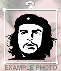 Effekt von Che Guevaras Gesicht in Schwarz und Weiß