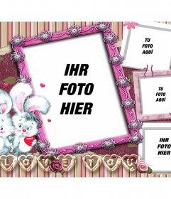 Collage von 4 Bildern für Liebhaber