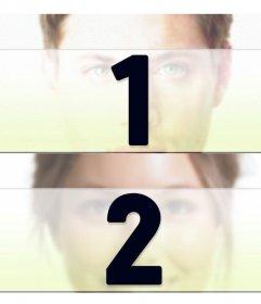 Erstellen Sie eine Collage mit zwei getrennten Fotos horizontal
