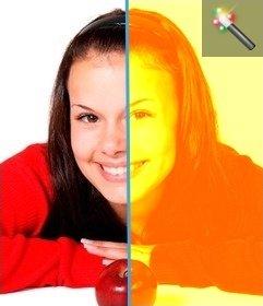 Dieser Filter gilt gelbe Färbung zu einem Bild