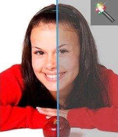 Foto-Filter, um den Kontrast zu Bildern von dieser Seite aus, ohne einen Grafik-Editor zum Download hinzufügen. Laden Sie Ihr Foto und man kann leicht zu bearbeiten.