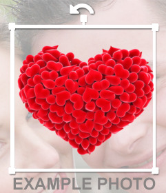 Aufkleber eines Herzens mit kleinen Herzen gemacht