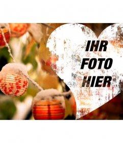 Weihnachten Herz Cover-Foto auf Facebook stellen