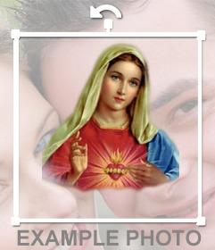 Online Aufkleber von der Jungfrau Maria in Ihrem Foto zu setzen