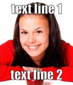 Schöpfer des Online-Meme mit Ihren Fotos machen. Setzen Sie den Text in ein Foto online