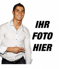 Fotomontage, um Ihr Foto mit Cristiano Ronaldo zusammenzustellen