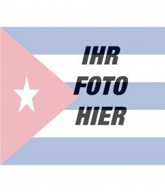 Collage, um die Flagge von Kuba entlang mit Ihrem Foto setzen