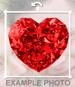Online Fotomontage, um eine rote herzförmige Diamant in Ihre Fotos setzen