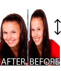 Schlankheits-Effekt ein Foto online ohne etwas herunterladen zu müssen