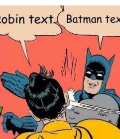 Schöpfer von Fotomontage der Szene, in der Batman ihm einen Klaps auf Robin gibt