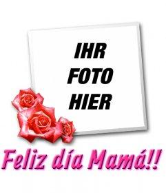 Karte zum Muttertag mit dem Text, den TE QUIERO MAMÁa!