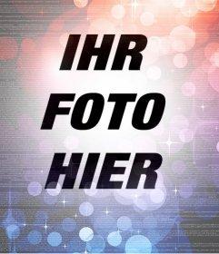 Fügen Sie ein abstraktes Filter mit Licht, um Ihre Fotos kostenlos