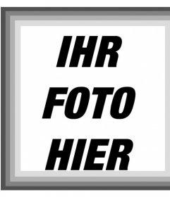 Fotorahmen mit verschiedenen Schattierungen von Grau und Schwarz-Weiß-Filter für Ihre Fotos