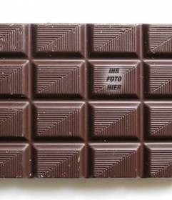 Setzen Sie Ihr Bild auf eine Tafel Schokolade zu finden ihren Freunden spielen und gestalten mit dem Text