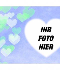 Effekt mit transparenten Herzen schwimmend, wo Sie Ihr Foto