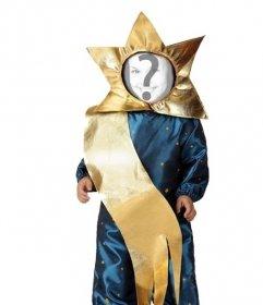 Online und Spaß Kostüm für Kinder von Weihnachtsstern