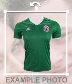 Offizielles Hemd der Fußballmannschaft von Mexiko in Ihre Fotos einfügen