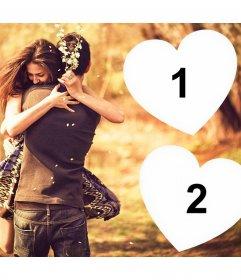 Zeigen Sie Ihre Liebe für jemand mit diesem Foto-Effekt für zwei Fotos