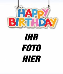 Alles Gute zum Geburtstag Hängen Sie Ihre Bilder