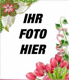 Zierrahmen mit schönen Rosen und Blumen für Ihre Fotos