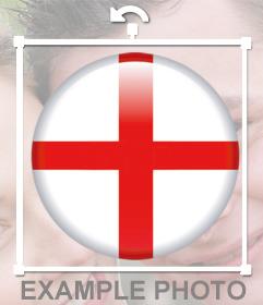 England Flagge knopfförmigen auf dem Bilder