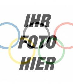 Flagge mit dem Symbol der Olympischen Spiele als ein Filter zu setzen in Ihrem Foto