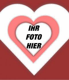 Foto Feld der Liebe Ihr Foto innerhalb eines Herzens mit lebendigen Effekt hinzufügen