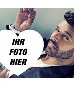 Eine spezielle Foto-Effekte für Ricky Martin Fans