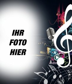 Foto Wirkung von Musik und Notizen Sie Ihr Bild hochladen.