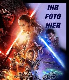 Fotoeffekt von Star Wars VII poster Ihr Foto