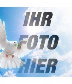 Photo-Effekt mit der Friedenstaube für Ihr Foto