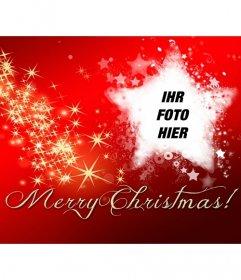 Facebook-Cover-Foto mit Text frohen Weihnachten.