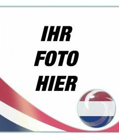 Fotomontage mit der Flagge der Niederlande, um Ihre Fotos setzen