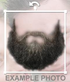 Fotomontage, um einen Bart auf dein Foto zu setzen