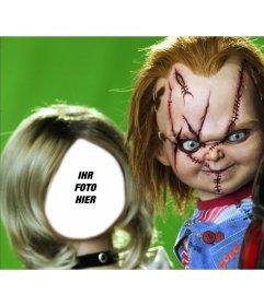 Fotomontage von Tiffany, die Freundin von Chucky Ihr Foto