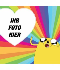 Bunte Foto-Effekt mit Jake the Dog of Adventure Time für Ihr Foto