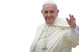 Fotomontage, in der Sie mit dem Papst FRANCISCO erscheinen