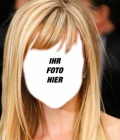 fotomontage ihre frisur online ndern und sein blonde lange haare photoeffekte. Black Bedroom Furniture Sets. Home Design Ideas