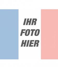 Fotomontage, um Ihr Foto zusammen mit der Flagge von Frankreich, um online zu stellen