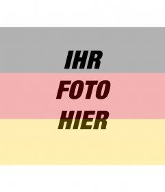 Schöpfer des Online-Fotomontagen von Ihr Foto neben der Flagge der Bundesrepublik Deutschland