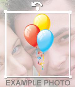 Aufkleber von bunten Luftballons Geburtstag Fotos zu schmücken