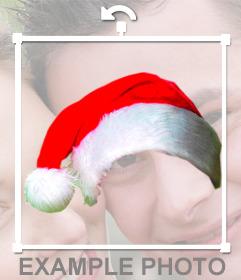 Fotomontage eine Weihnachtsmütze in Ihr Foto online zu stellen, ohne Design Wissen