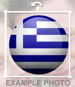 Runder Aufkleber mit den Farben der Flagge von Griechenland