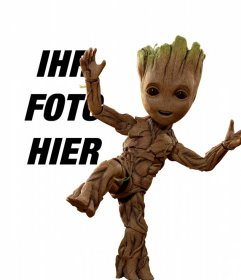 Fotomontage mit Groot Baby