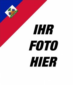 Setzen Sie in der Ecke des Fotos die Flagge von Haiti mit diesem Effekt Online mit diesem Editor Ihr Foto