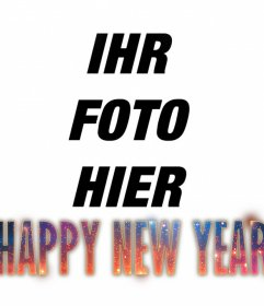 Effect HAPPY NEW YEAR Text in Ihr Foto mit einem Hipster Design setzen